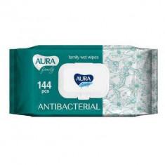 AURA Влажные салфетки FAMILY для всей семьи антибактериальные с крышкой N144