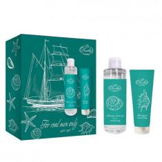 Liss Kroully подарочный набор For Men MN-2001 увлажняющий гель для бритья 75мл+шампунь-гель для душа 2 в 1 260мл)