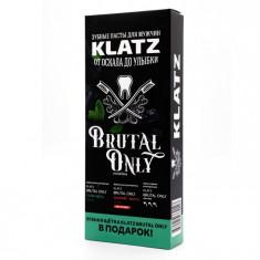 Klatz BRUTAL ONLY Набор Зубная паста Супер-мята 75мл+Бешеный имбирь 75мл + Зубная щетка жесткая