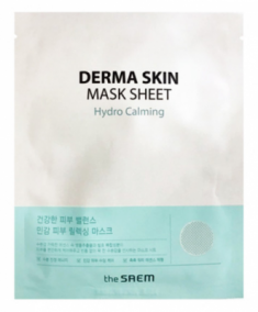 Маска тканевая успокаивающая THE SAEM Derma Skin Mask Sheet Hydro Calming 28мл
