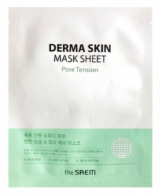 Маска тканевая от расширенных пор The Saem Derma Skin Mask Sheet Pore Tension 28мл