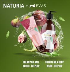 Скраб для тела ИНЖИР EVAS  NATURIA Creamy Oil Salt Scrub Fig Pulp 250г