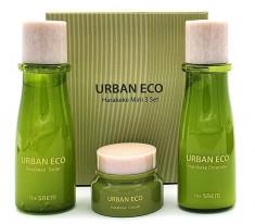 мини-набор для лица с экстрактом новозеландского льна the saem urban eco harakeke mini 3 set