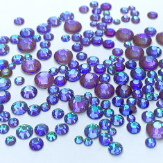 FanatkaStraz, Стразы Electric Brown Violet Delite №714,  микс, 200 шт.