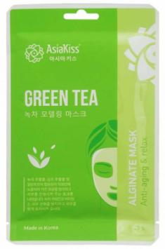 Маска альгинатная с экстрактом зеленого чая AsiaKiss Green tea alginate mask 25г