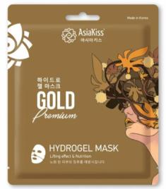 Маска гидрогелевая с экстрактом золота AsiaKiss Gold hydrogel mask 20г