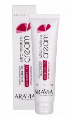 Крем для ног ультраувлажняющий с мочевиной (15%) и PHA-кислотами ARAVIA Professional Ultra Moisture Cream 100мл