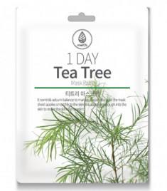 Маска тканевая с экстрактом чайного дерева Med:B 1 Day tea tree mask pack 27мл