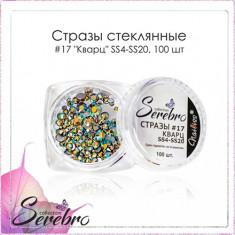Serebro, Стразы стеклянные №17 «Кварц», микс размеров, 100 шт.