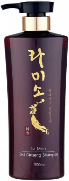 Шампунь с экстрактом красного женьшеня La Miso Red ginseng shampoo 500мл